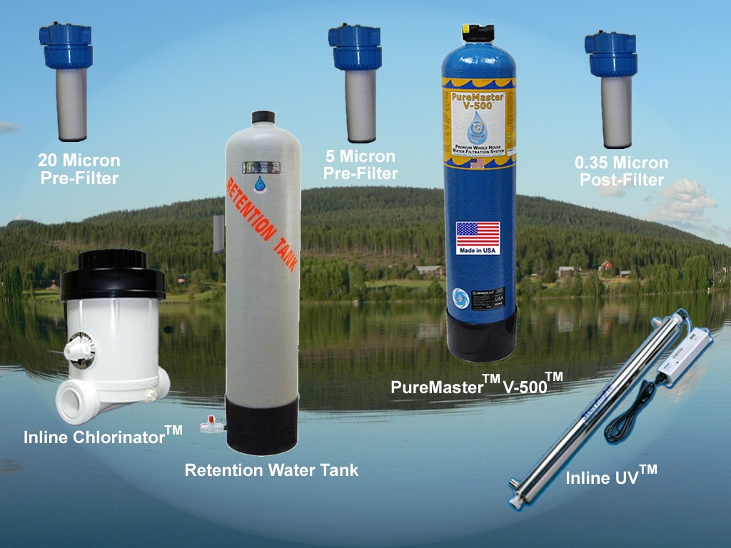 Total home water filtration treatment system solutions for for Pond water filtration systems