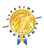We confidently provide every customer with our Premium Quality-Lifetime Warranty.  Click here for complete details.